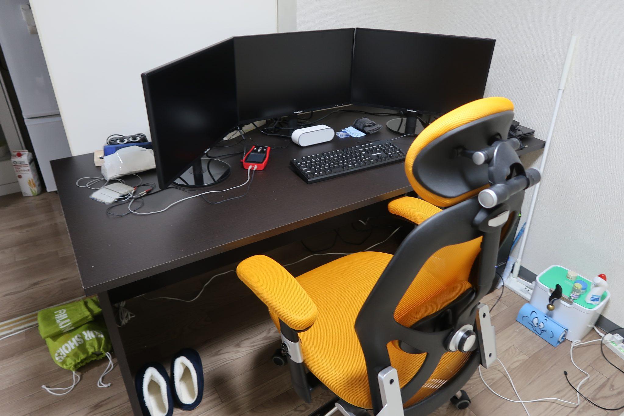 pc用のデスクと椅子をlowyaで購入して作業環境を整えました - れびゅやん